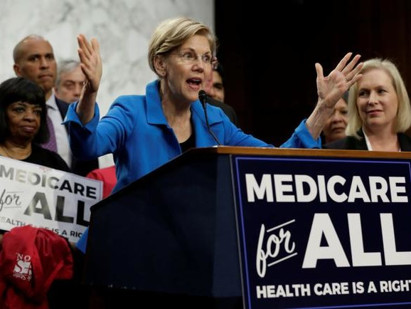 """Not One Penny In Middle-Class Tax Increases"" - Warren Unveils Plan To Cover $52 Trillion Medicare-For-All"