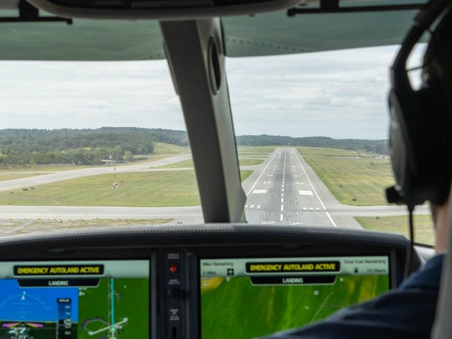 The cheapest private jet in the world can now land itself with the push of a button. We tested the revolutionary new emergency system.