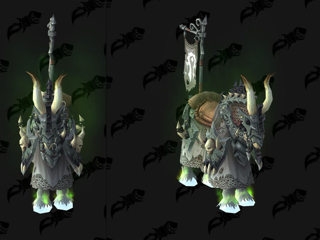 Patch 8.1 Mount Preview - Vicious Black and White Bonesteeds