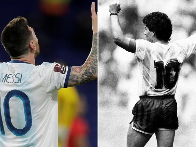 Diego Maradona's son urges Lionel Messi to RETIRE Barcelona's legendary number 10 jersey in tribute to late icon