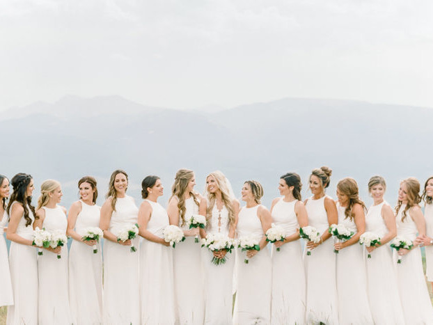 A Glamorous White on White Affair at Vail Wedding Deck