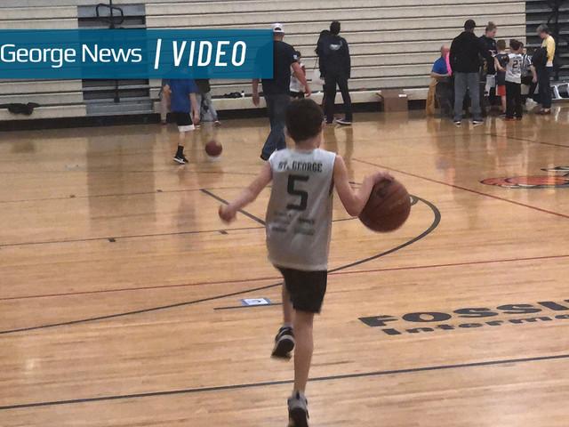 St. George kids take their shot at Utah Jazz home floor glory
