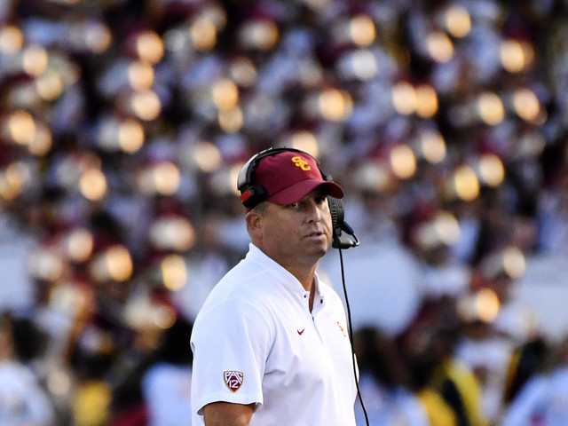 Clay Helton's future at USC looms over UCLA game