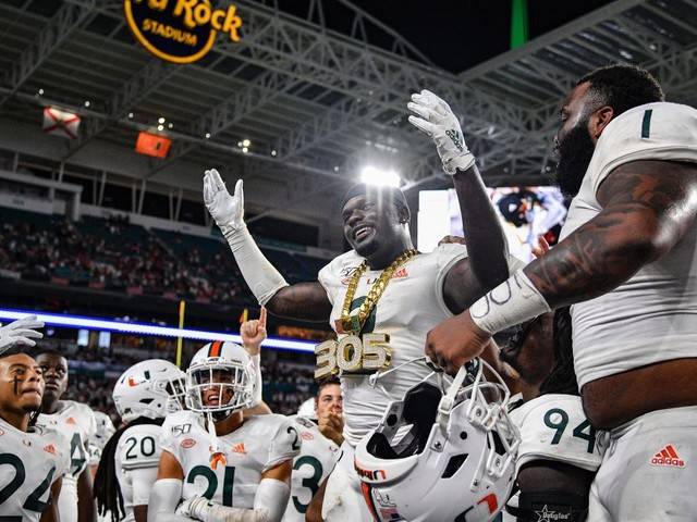 Miami Holds Off No. 20 Virginia 17-9 For 1st ACC Win
