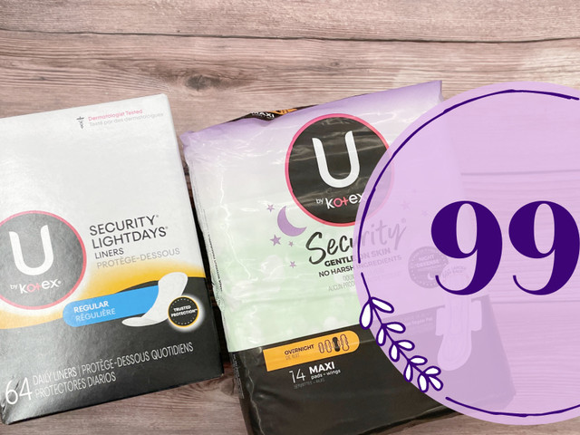 U by Kotex items are JUST $0.99 During Kroger Mega Event!
