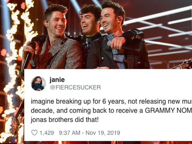 The Jonas Brothers Earned Their First Grammy Nomination Since 2009, and We're Losing Our Cool