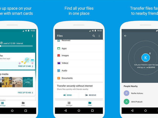 Google Files Go app for Android officially launches with file management, offline sharing