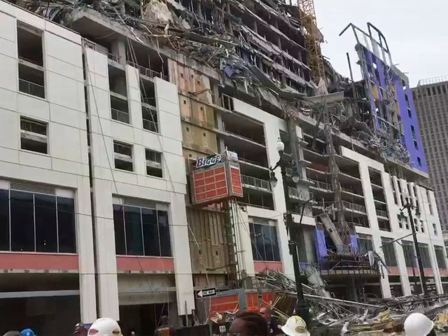 Hard Rock hotel construction collapses in New Orleans; 1 dead, 3 missing