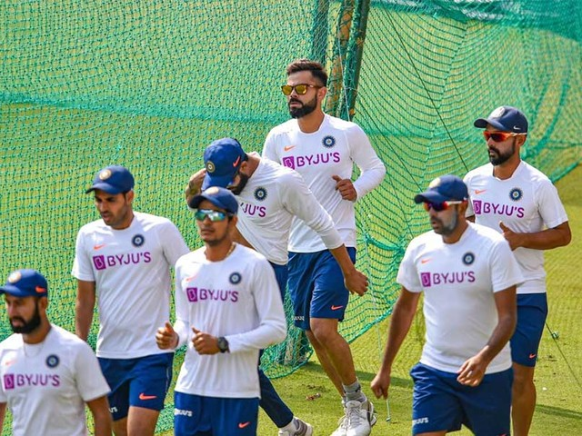 Indian Players Practice With Red And Pink Ball Ahead Of Bangladesh Tests