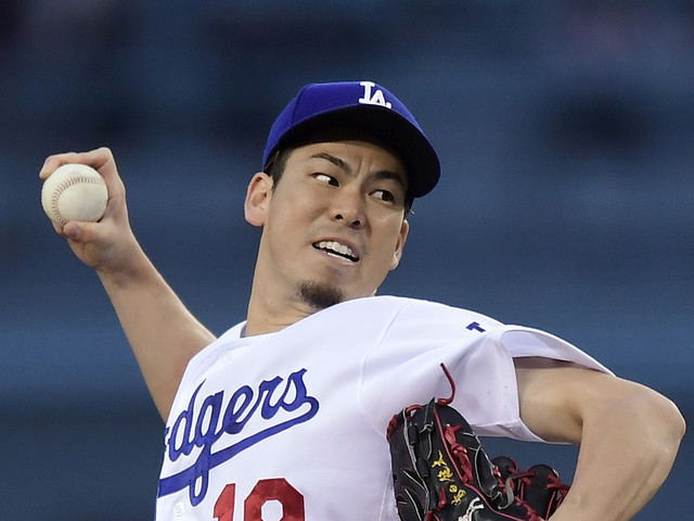 Maeda strikes out 12, drives in 2 as Dodgers top Padres 2-0