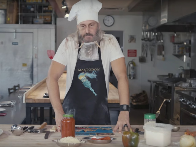 Mastodon launches cooking show by making a pizza out of a vinyl record
