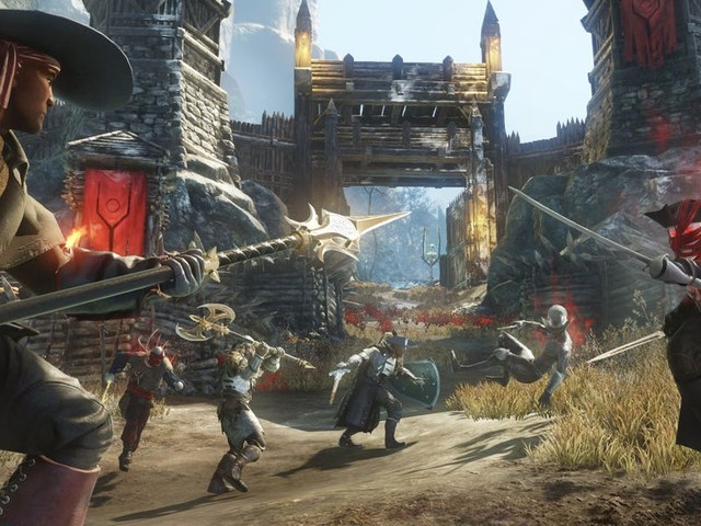 Amazon just released the first trailer for 'New World,' a massive multiplayer online game coming to PC in May 2020 (AMZN)