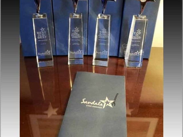 Pixie Vacations Named Top Beaches Resort Travel Agency in the United States and Top Ten Agency World Wide at Sandals Star Awards