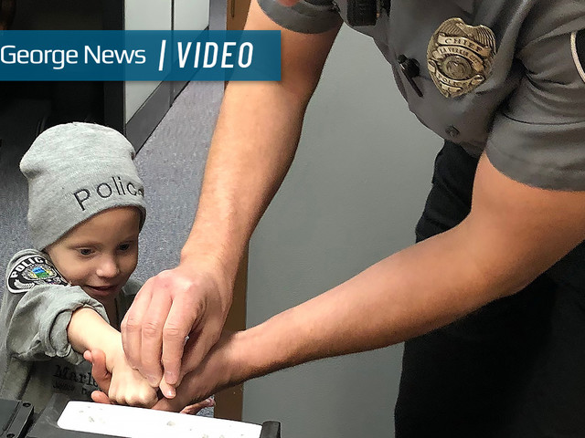 3-year-old battling cancer fulfills dream of becoming a police officer at swearing-in ceremony