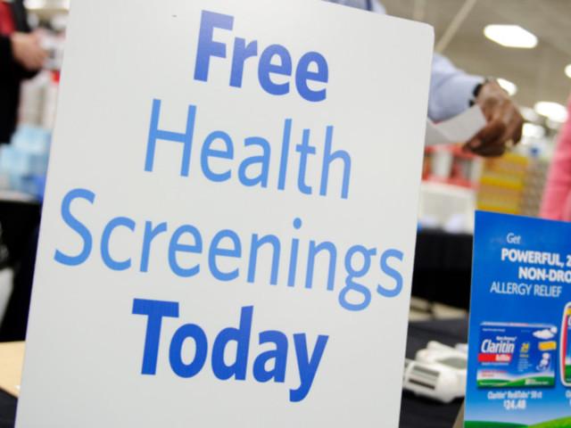 Free Health Screenings at Walmart on June 17, 2017