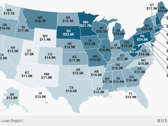 How much student loan debt people owe in each state exposes a pattern we should have seen coming