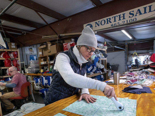 Maine sail-maintenance shop turns to sewing medical masks