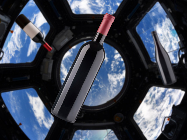 Case of fine wine launched into space, but astronauts can't drink