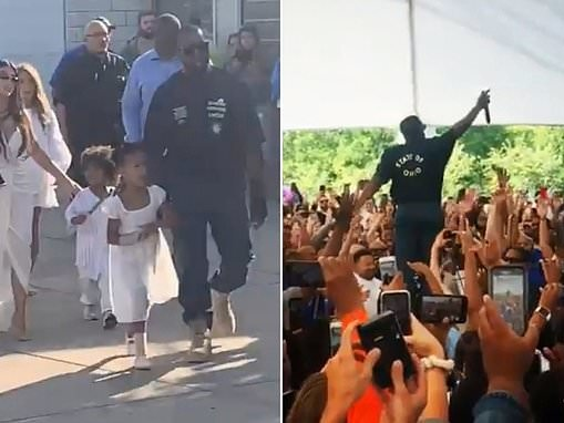 Kanye West holds weekly Sunday Service in Ohio to honor Dayton mass shooting victims