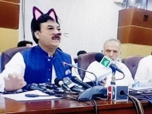 Cat-Filter Clusterf**k Crushes Pakistani Government Credibility During Live Presser