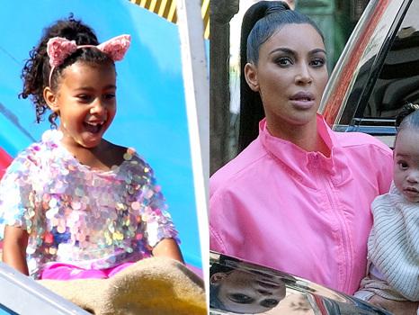 Kim Kardashian Takes Daughters North, 6, & Chicago, 1, Horseback Riding In Wyoming — Pic