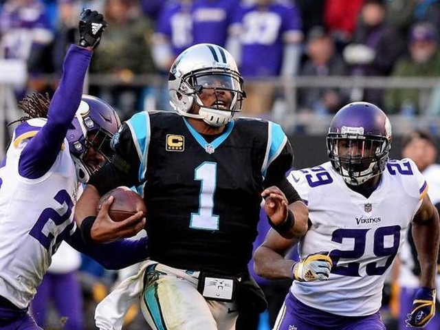 Panthers QB Cam Newton deserves a hat tip, and gives one too, after huge win over Vikings