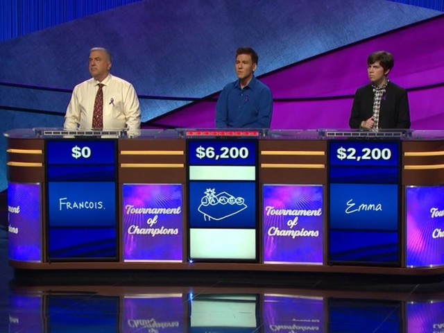 'Jeopardy!' rivalry between James Holzhauer, Emma Boettcher ends in final round of 'Tournament of Champions'