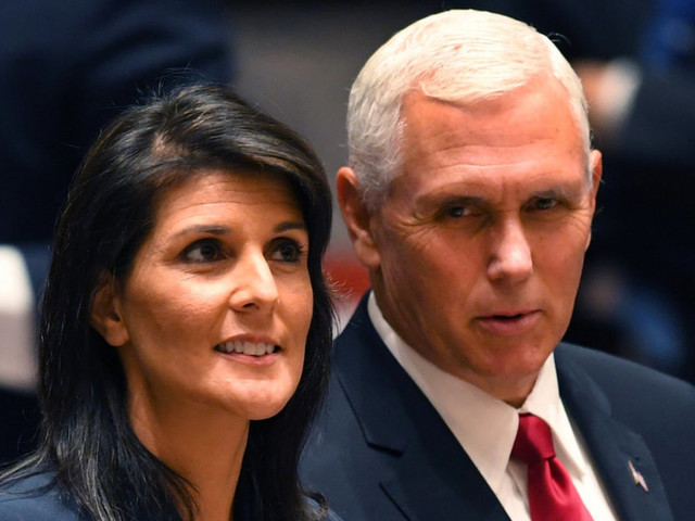 Nikki Haley tweets against 'false rumors' about Mike Pence — stirring up more talk of Haley replacing him in 2020