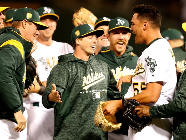 Athletics' Sean Manaea throws no-hitter against Red Sox