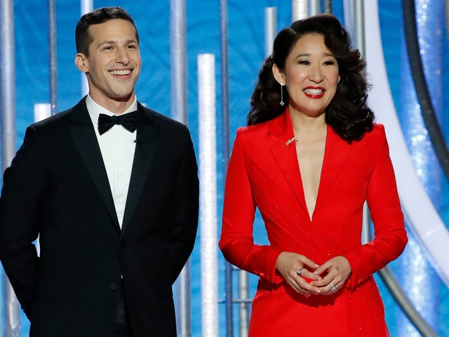 All Of Sandra Oh's Golden Globes Looks In One Place