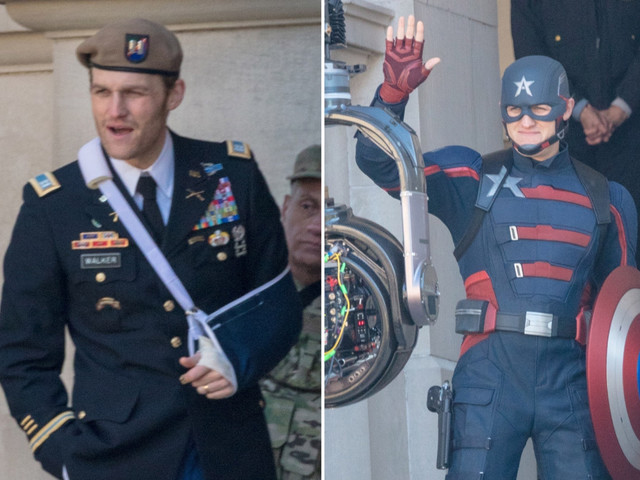 Wyatt Russell spotted filming 'The Falcon and the Winter Soldier' series