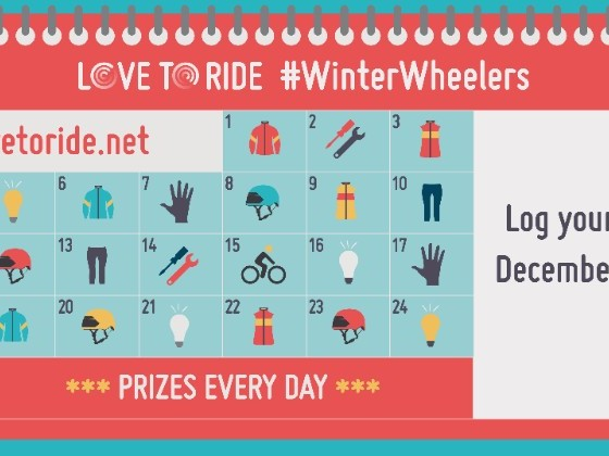 Join Winter Wheelers, a cycling encouragement challenge that runs Dec. 1-25