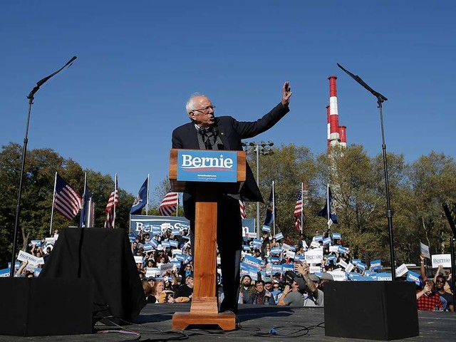 Bernie Sanders tells supporters he's back at NYC rally