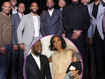 NBA Legends, Stars & Wifey Gabrielle Union Show Love To Dwyane Wade At 'One Last Dance' Dinner