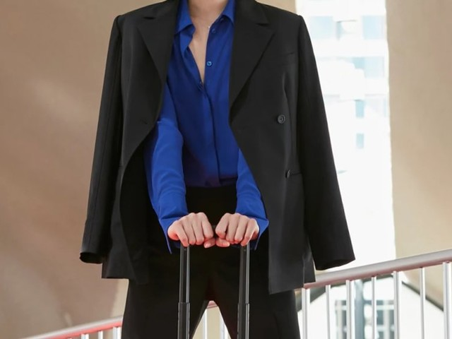 I wore M.M.LaFleur's packable suit right out of my carry-on — it was wrinkle-free and ready to wear after being crumpled up for hours