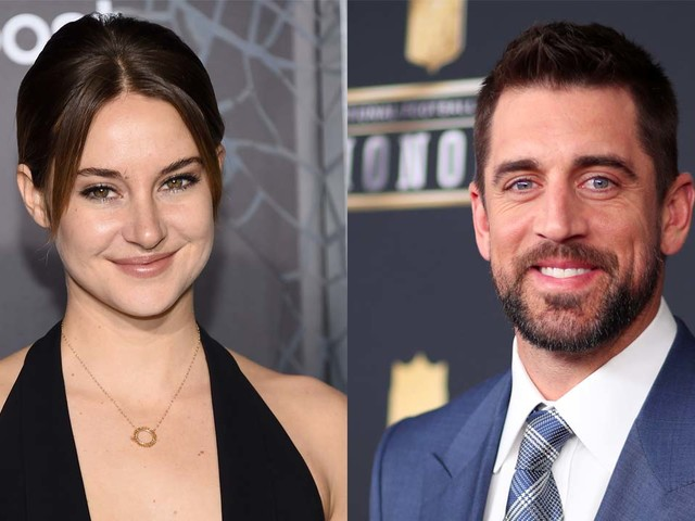 Shailene Woodley says she and Aaron Rodgers aren't in a 'rush' to plan their wedding