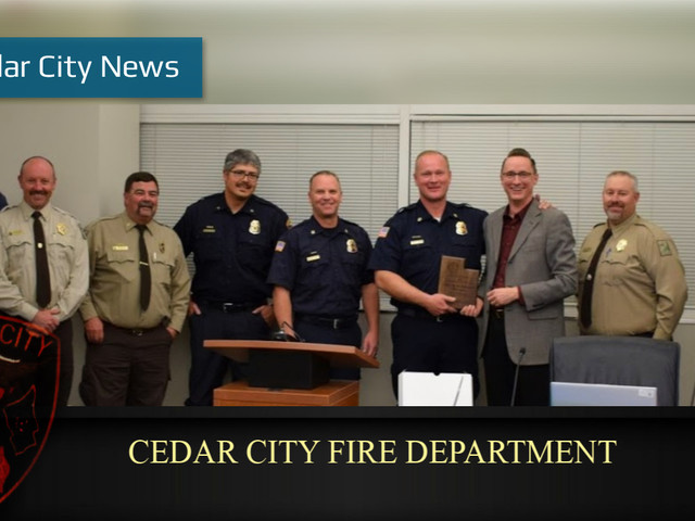State awards Cedar City Fire Department with Cooperator of the Year award for dedicated service