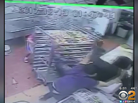 Caught On Video: Doughnut Shop Clerk Shot During Struggle With Armed Robber