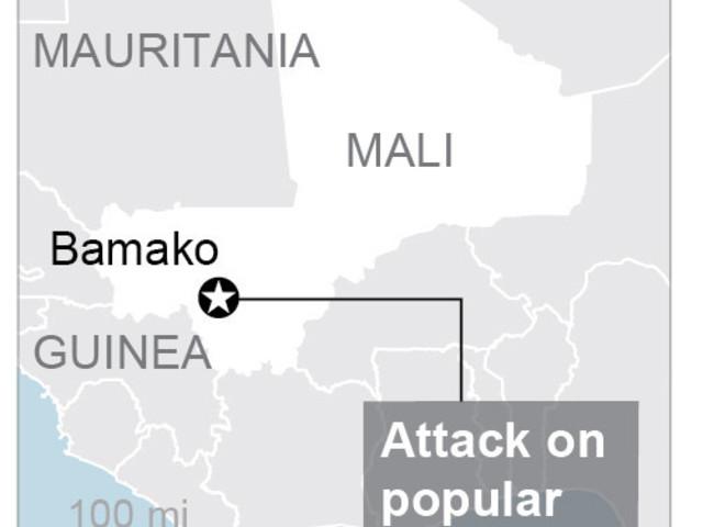 Suspected jihadists attack spa in Mali's capital, 2 dead