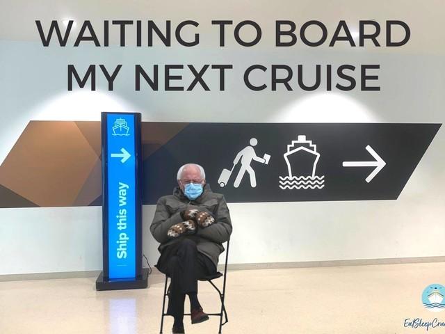 Bernie Sanders inauguration meme reaches cruise ships too