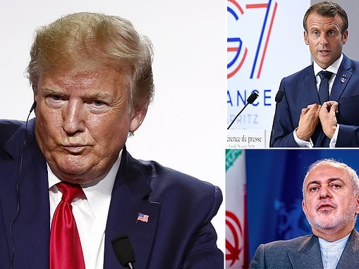 Emmanuel MacronL I did NOT ask Trump to 'approve' surprise visit by Iran's foreign minister to G7