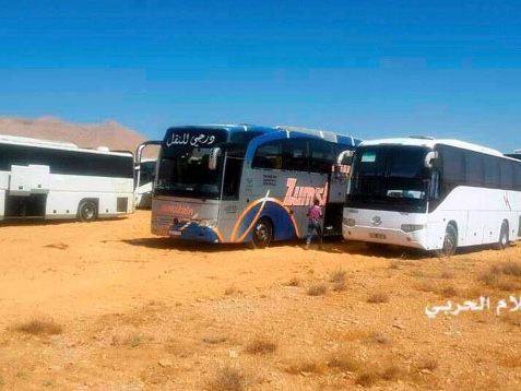 The Stranded ISIS Bus Convoy That No One Knows What To Do With