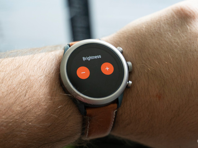 How to turn off auto-brightness on Wear OS