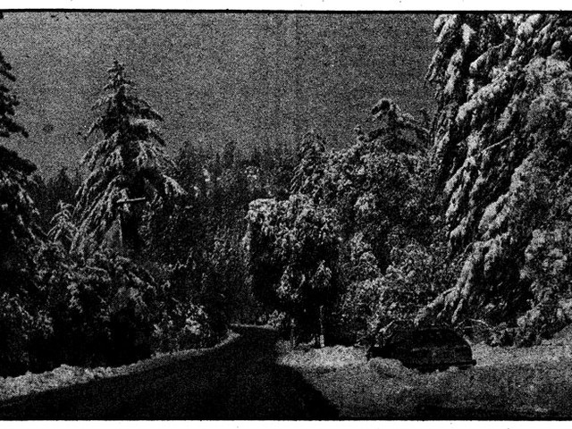 From the Archives: Storm dumps first snow on the Hill