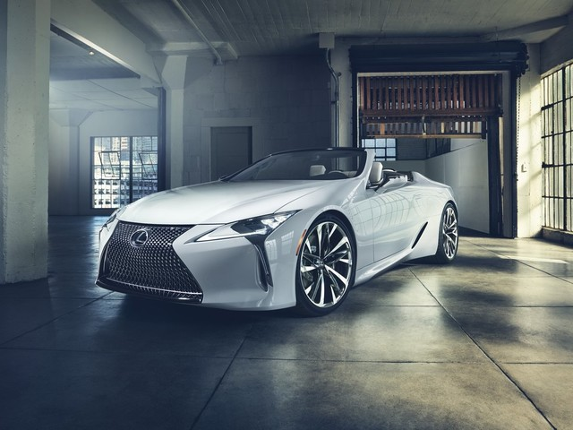 The 2019 Lexus LC Convertible Doesn't Have a Roof and We're Not Even Mad