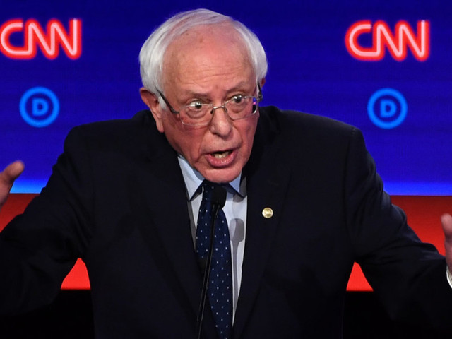 Bernie Sanders goes on the attack against CNN moderator—and runs out of time