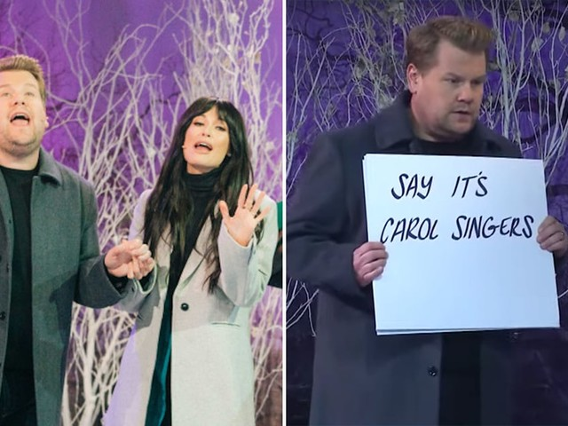 Kacey Musgraves and James Corden Spoof Love Actually During a 14-Song Christmas Medley