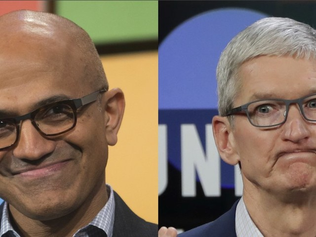 Microsoft's surprising comeback over Apple is the outcome of two new CEOs with radically different gameplans (AAPL, MSFT)