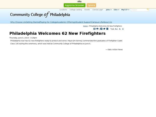 Philadelphia Welcomes 62 New Firefighters