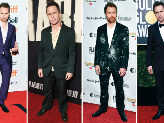 Stylist Michael Fisher Discusses Sam Rockwell's Red Carpet Looks